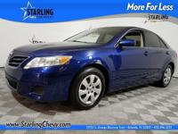 Camry LE, 4D Sedan, Dark Blue, and Dark Charcoal