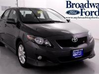 Look at this 2010 Toyota Corolla 4DR S. It has a