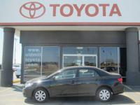 TOYOTA CERTIFIED COROLLA, BOUGHT NEW AND SERVICED HERE,