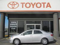 TOYOTA CERTIFIED COROLLA LE, BOUGHT NEW AND SERVICED