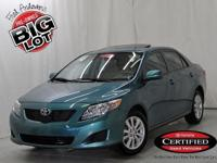 Corolla LE, Toyota Certified, Capri Sea Metallic, ABS