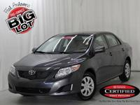 Corolla LE, Toyota Certified, 4D Sedan, and Magnetic