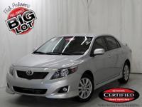 Corolla S, Toyota Certified, Classic Silver Metallic,