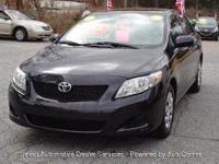 Totally Inspected 2010 TOYOTA COROLLA BASE BLACK 1.8 L
