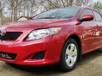 2010 TOYOTA COROLLA LE.   Red, Alloy Rims, Blk Tint,