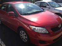 Red 2010 Toyota Corolla LE in excellent condition, just