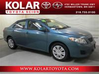 2010 Toyota Corolla LE, All Weather Guard Package,