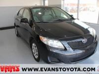 Clean CARFAX. BLACK 2010 Toyota Corolla LE FWD 4-Speed