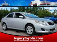 Clean CARFAX. New Price! Corolla LE, 4D Sedan, 1.8L I4