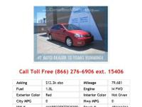 2010 Toyota Corolla S 4dr Sedan Sedan Red I4 1.8L Gas