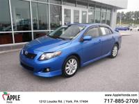 Recent Arrival!  2010 Toyota Corolla S  Options:  1.8 L