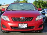 Options:  2010 Toyota Corolla Le Sedan|Maroon/|V4 1.8L