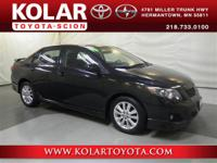 Corolla S, ONE Owner Per AUTO CHECK History Report,