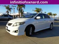 Options:  2010 Toyota Corolla S|White|Looks And Drives