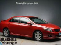 Red 2010 Toyota Corolla SCARFAX One-Owner.34/26