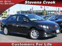 Options:  2010 Toyota Corolla S|Black|1.8L Inline