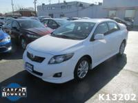 Options:  2010 Toyota Corolla S|Miles: 103975Color: