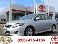 Just Reduced! 2010 Toyota Corolla S Silver 34/26