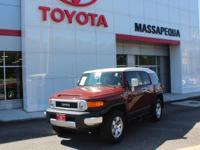Red 2010 Toyota FJ Cruiser 4WD 5-Speed Automatic 4.0L