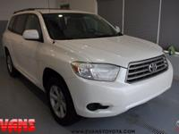 CARFAX One-Owner. Clean CARFAX. WHITE 2010 Toyota