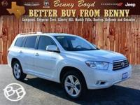 (512) 948-3430 ext.1129 This 2010 Highlander is priced
