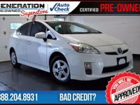 Super White and 2010 Toyota Prius. Hybrid! Save the