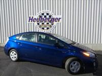 2010 Toyota Prius 5. Blue Ribbon Metallic, Dark Gray