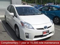 CARFAX One-Owner. Blizzard Pearl 2010 Toyota Prius IV