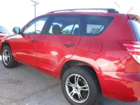 Great Toyota Rav4! Beautiful deep red, upgraded wheels,