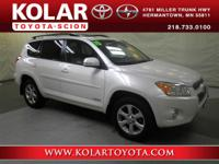RAV4 Limited, 4WD, Clean Auto Check History Report, and