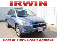 3.5L V6 DOHC, 4WD, Cloth. Blue 2010 Toyota RAV4 Limited