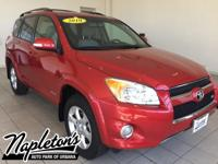 Recent Arrival! 2010 Toyota RAV4 in Red, AUX