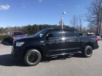 Black 2010 Toyota Tundra Grade CrewMax 4WD 6-Speed