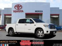 Options:  2010 Toyota Tundra Crewmax Limited|White|Sand