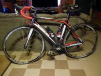 bike has 668 miles , frame is 54 cm by 53.8 cm in