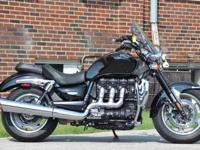 This 2010 Triumph Rocket III ABS with only 1446 miles