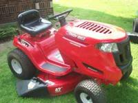 Great Mower only used a few times. It a troybuilt Pony