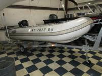 2010 WEST MARINE RIB 350 HYP INFALTABLE, POWERED WITH