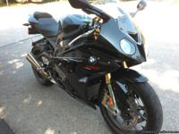 This 2010 BMW S1000RR is Thunder Gray, which is a black