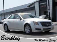 Clean CARFAX. White 2010 Cadillac CTS Luxury RWD