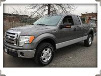 2010 ford f150 xlt super cab 4wd gray with gray cloth