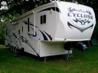 Cyclone toy hauler 5th wheel 41 foot. model 3612 by