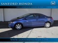 Civic LX Honda Certified 2D Coupe 1.8L I4 SOHC 16V