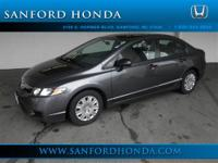 Civic VP 4D Sedan Compact 5-Speed Automatic and Gray.