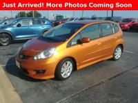Clean CARFAX. Burnt Orange 2010 Honda Fit Sport FWD