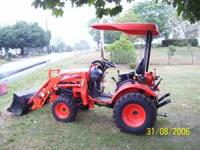 2010 Kioti tractor ck20s with 14 hrs on like new,with