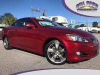 This luxurious 2010 Lexus IS 250 C in Matador Red Mica