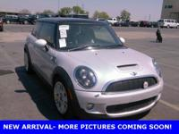 Clean CARFAX. White Silver Metallic 2010 MINI Cooper S