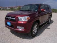 Toyota Certified, In Good Shape. SR5 trim, Salsa Red