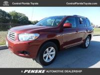 CARFAX 1-Owner. Base trim, Salsa Red Pearl exterior.